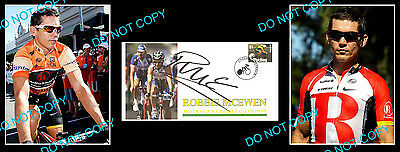 ROBBIE McEWEN AUSSIE CYCLING SIGNED COVER +2 PHOTO