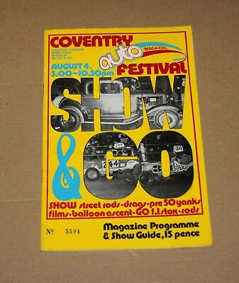 1973 Coventry Brisca F1 stock car 'Auto Festival' programme, 4 August
