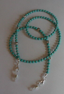"""Turquoise Blue"" Glasses Chain Eyeglass Chain Glasses Holder"