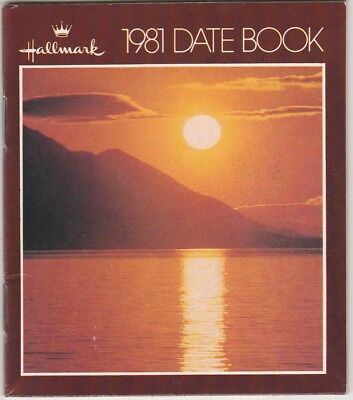 Hallmark 1981 Date Book Never Used Very Good Condition