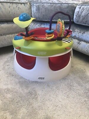 Mamas And Papas Snug Booster Seat And Play Tray Raspberry