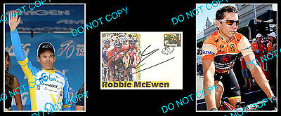 ROBBIE McEWEN AUST CYCLING STAR SIGNED COVER +2 PHOTOS