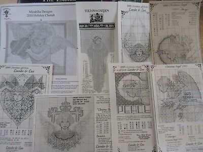 **lot Of Lavender & Lace, Mirabilia, Told In A Garden Cross Stitch Charts**