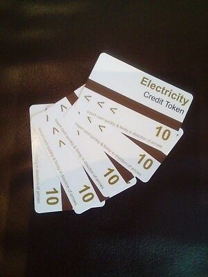 5 x Electric Meter Cards (AMPY type) Unused surplus as have had meter changed