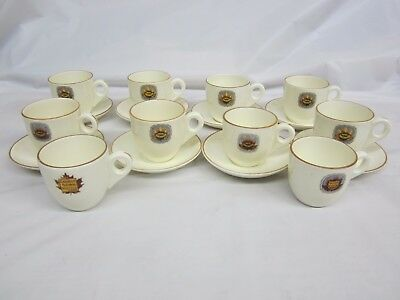 8 Doulton Canadian National Railway Hotel Vancouver Demitasse Cups & Saucers +2