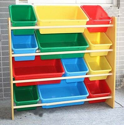 Environmentally Large Capacity Colored 13mm Storage Rack Shelf Toy For Children