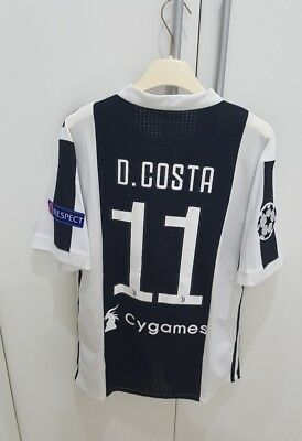 Maglia Player Issue Juventus 2017-18 Douglas Costa Shirt Serie A Maillot No Worn