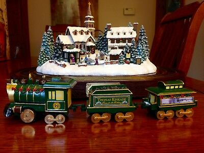 """""""Home for the Holidays"""" from Thomas Kinkade Village Christmas Train Collection"""