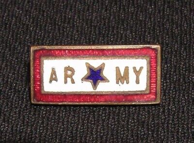 """WWII """"ARMY"""" SON IN SERVICE PIN - WW2 US Military Home Front Sweetheart Mothers"""
