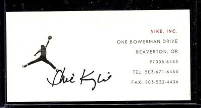 SIGNED BUSINESS CARD, PHIL KNIGHT, CO-FOUNDER OF NIKE RETIRING, summer 2016