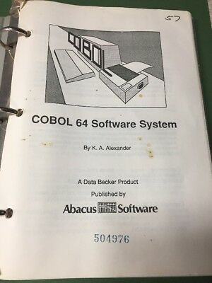 Cobol  For The Commodore 64 from Abacus Software W/ DISK! RARE! 1986