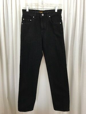 VTG LEVI'S SILVER TAB BLACK JEANS High Waisted Tag Size 29 X 30 Straight Leg