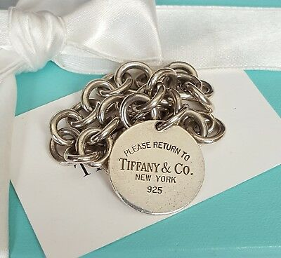 Authentic Tiffany & Co. Bracelet Return to Tiffany Tag  Sterling Silver w Box