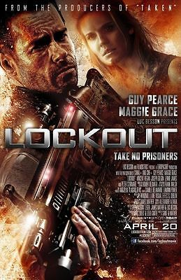 Lockout Original D/S Rolled Movie Poster 27x40 NEW 2012 Guy Pearce  Maggie Grace