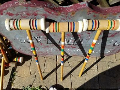 """Vintage Replacement 25"""" Croquet Mallet Choice Of One Forster Block Stripe"""