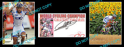 Sandy Casar Cycling Champ Signed Cover +2 Photos
