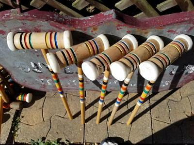 """Vintage Replacement 25"""" Croquet Mallet Choice Of One Forster Weathered"""