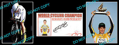 Mark Renshaw Cycling Champ Signed Cover +2 Photos