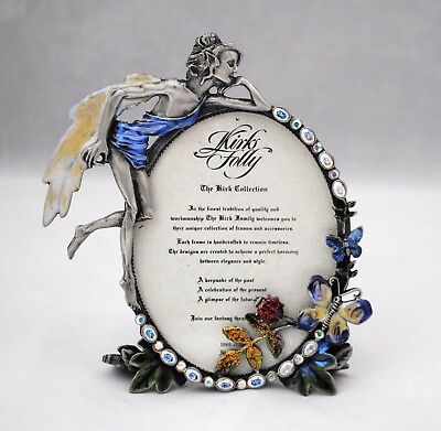 Kirks Folly Fairy Lady Bug & Butterfly Oval Photo Picture Frame