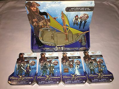 Pirates Of The Caribbean Dead Men Tell No Tales Action Figure & Pirate Ship Lot