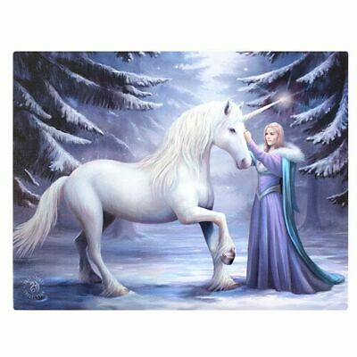 "NEW DESIGN Anne Stokes ""Pure Magic"" Large 40x30cm Unicorn Canvas Wall Art"