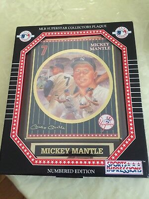 Mickey Mantle Plaque Sports Impression