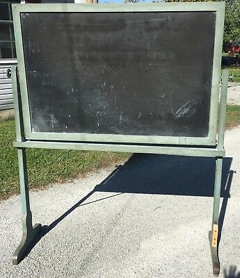 Antique Chalkboard Freestanding School Church Nice Green Paint