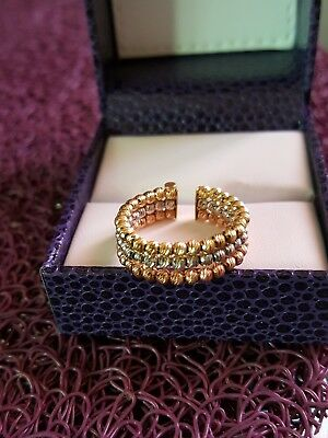 Bague or 18k  3ors boules NEUF