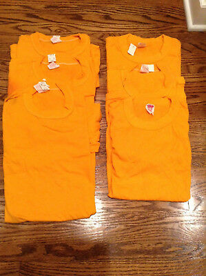 Lot Of 6 Blank Vintage 80's Wolf And Sons Tee Shirts Deadstock S*med*lg