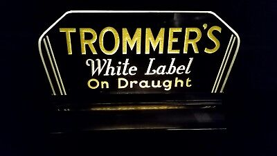 Trommers beer lighted backbar sign Gillco
