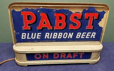 Pabst beer lighted backbar sign Price Brothers light