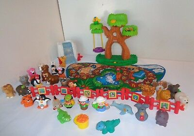Fisher Price Little People A TO Z LEARNING ZOO AND ACCESSORIES COMPLETE FIGURES