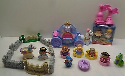 Fisher Price Little People Cinderella, Coach King Queen Dragon Prince Playset
