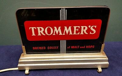 Trommers beer lighted backbar sign Price Brothers light