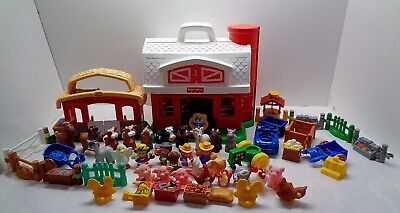 Fisher Price Little People Huge Barn & Farm Playset Animals Tractors Fruit Stand