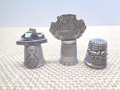3 Vintage Metal Thimbles Grand Ole Opry