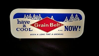 Grain Belt beer lighted backbar Minneapolis sign American  light