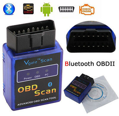 Bluetooth ELM327 OBD2 Scanner Car Diagnostic Tool OBDII Auto Code Reader Torque