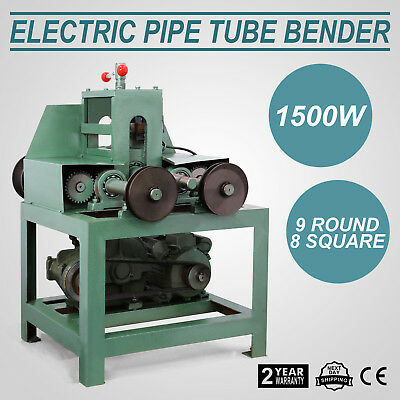 Electric Pipe Tube Bender 9 round and 8 square Multi-function 1400RPM 110 Volt