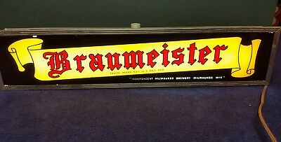 Braumeister beer lighted sign from independent brewing Milwaukee WI