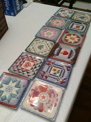 Mary Ann Lasher Complete set of Seasons of Home Quilt 12 set  Bradford Exchange