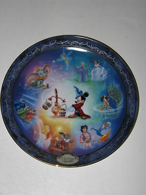 """Bradford Exchange Disney Magical Moments Collector Plate """"casting Spells"""""""