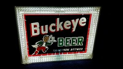 Buckeye lighted backbar sign Toledo Ohio.  Lackner  sign