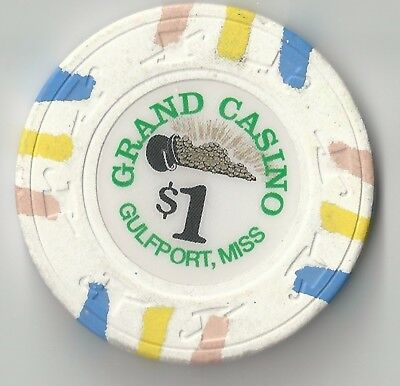 $1 Mississippi 1St Edt Grand Casino Chip Gulfport Pot Of Gold H&c Mold