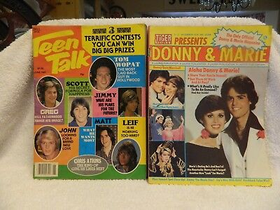 Vintage Tiger Beat Magazine Donnie and Marie, and Teen Talk Magazine june 1981