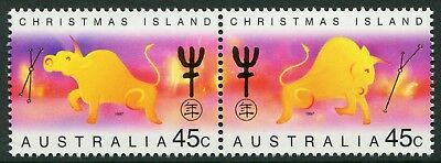 Year Of The Ox 1997 - Mnh Se-Tenant Pair (Bl332-Rr)