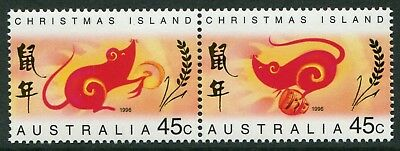 Year Of The Rat 1996 - Mnh Se-Tenant Pair (Bl332-Rr)