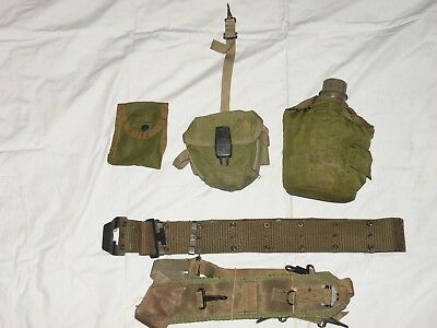 Vietnam M-1967 Equipment Listing with RARE Compass/1st Aid Pouch!