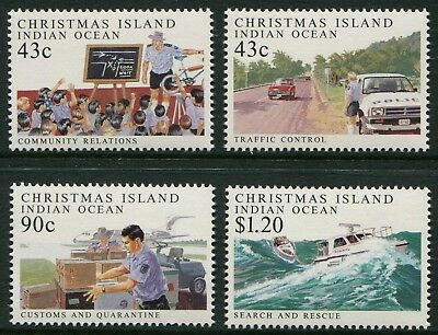 Policing On Christmas Island 1991 - Mnh Set Of Four (Bl325-Rr)