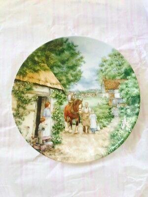 Wedgwood Plate 'The Village Green' series 'The Homecoming'.